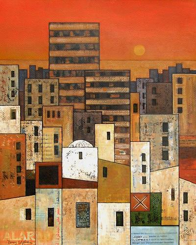 Jonny Lüpkes, The City, Abstract art, Architecture, Contemporary Art