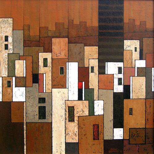 Jonny Lüpkes, Cityscape (Rabat), Landscapes, Abstract art, Contemporary Art