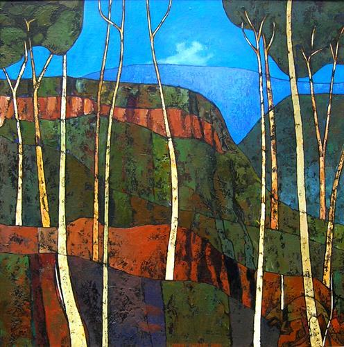 Jonny Lüpkes, Blue Mountains Landscape NSW, Landscapes, Nature, Contemporary Art, Expressionism