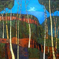 J. Lüpkes, Blue Mountains Landscape NSW