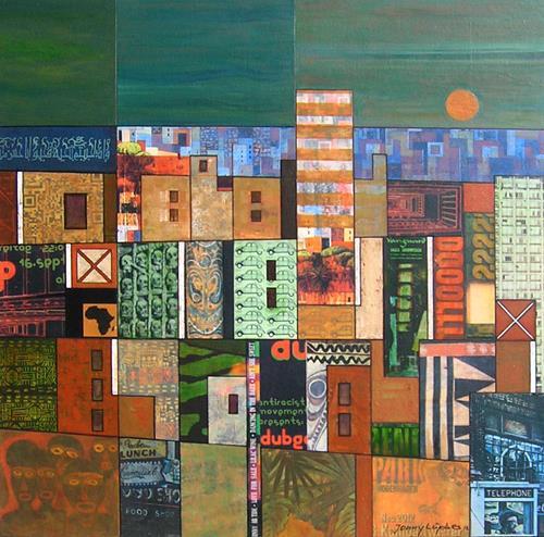 Jonny Lüpkes, Collage, Abstract art, Fantasy, Contemporary Art, Expressionism