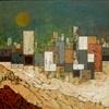 Jonny Lüpkes, Vor dem Sandsturm, Buildings, Abstract art, Contemporary Art