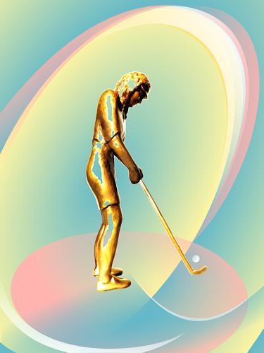 Jutta Römhild, Golferin, Sports, Game, Contemporary Art, Expressionism