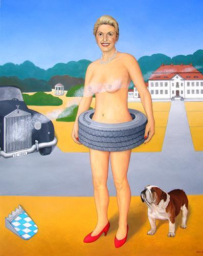 José García y Más, Back to Modesty / Rückkehr zur Bescheidenheit, Market, People: Women, Contemporary Art