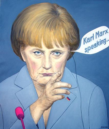 José García y Más, Angela Merkel Asking for Advice / Die Kanzlerin sucht Rat, Market, People: Portraits, Contemporary Art