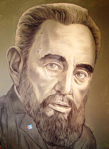 José García y Más, Fidel Castro, History, People: Portraits, Contemporary Art