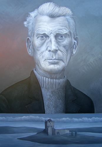 José García y Más, Samuel Beckett, People: Portraits, People: Men, Realism, Abstract Expressionism