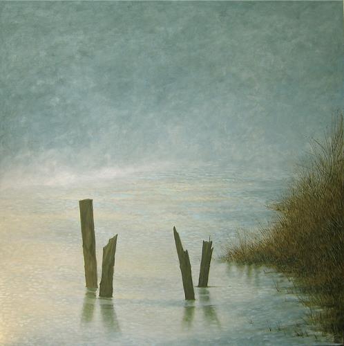 Uwe Thill, Seenebel, Landscapes: Sea/Ocean, Abstract Art