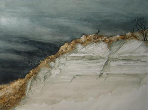 Uwe Thill, Abbruchkante einer Düne auf Sylt, Times: Autumn, Landscapes: Beaches, Contemporary Art