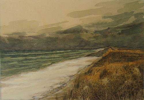 Uwe Thill, Herbst auf Sylt, Landscapes, Nature, Contemporary Art, Expressionism