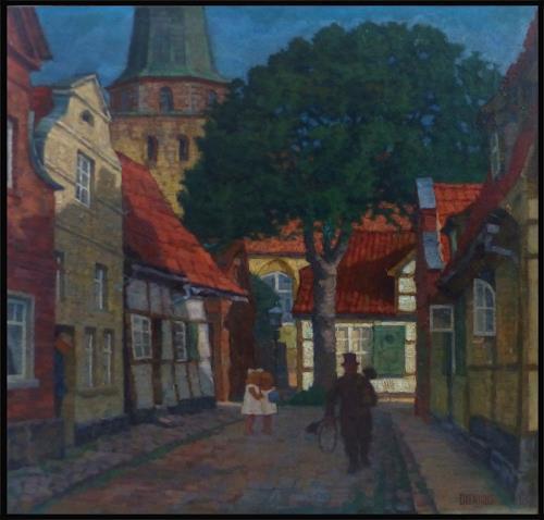 Uwe Thill, Travemünde 1870, Interiors, Landscapes, Realism, Expressionism