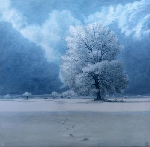 Uwe Thill, Winterruhe, Landscapes, Landscapes: Winter, Contemporary Art, Expressionism