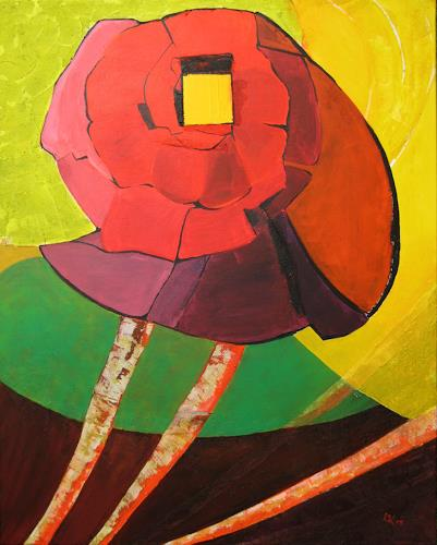 KronArt - Leopoldina Kronberger, Ohne Titel, Plants: Flowers, Abstract art, Modern Age, Expressionism