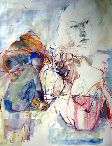 Ingrid Bartel-Karsten, Buckeln, Society, People: Group, Contemporary Art, Abstract Expressionism