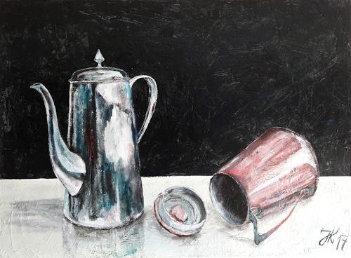 Jürgen Kühne, zwei kannen, Still life, Contemporary Art