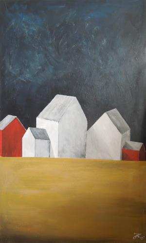 Jürgen Kühne, dreipluszwei, Buildings: Houses, Cubism