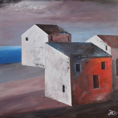 Jürgen Kühne, am kai, Buildings: Houses, Contemporary Art, Expressionism
