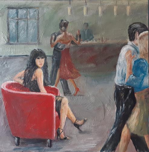 Jürgen Kühne, Milonga, People, Contemporary Art