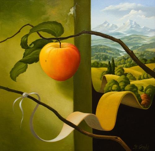 Stefan Ambs, Die Entstehung 2, Landscapes: Mountains, Nature: Miscellaneous, Post-Surrealism, Expressionism