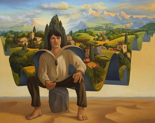 Stefan Ambs, Das Land des Königs, Version 2, Landscapes: Mountains, Post-Surrealism