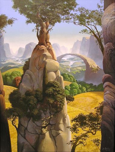 Stefan Ambs, Felslandschaft, Landscapes: Mountains, Expressionism
