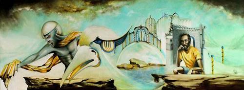 Susanne Pfefferkorn, Die Reue der Allmacht, People, Landscapes, Post-Surrealism