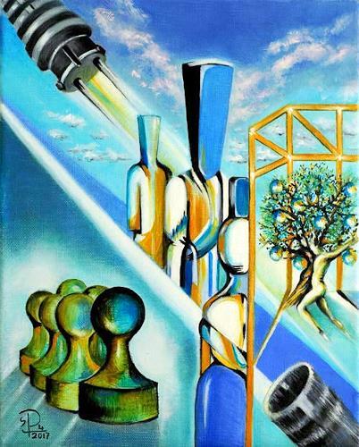 Susanne Pfefferkorn, Die Kluft, People, Society, Post-Surrealism, Abstract Expressionism