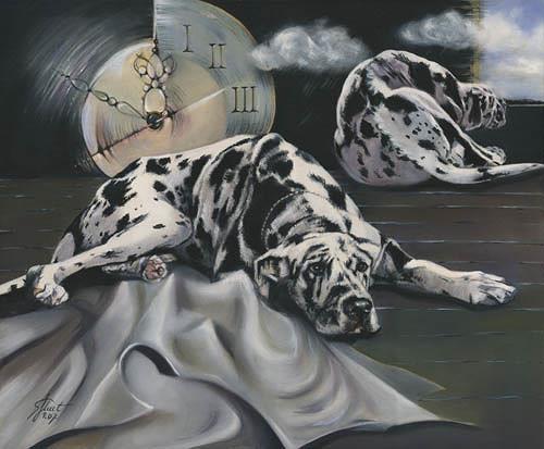 Susanne Pfefferkorn, Zeichen der Zeit Entfremdung, Emotions: Grief, Animals: Land, Expressionism