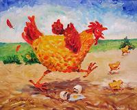 (. Aschenborn, Laufendes Huhn - Running Hen