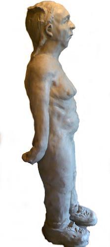 Yvonne van Hülsen, Frau Brennemann am Strand oder: Warum die Fischer nur noch Schuhe angeln, Erotic motifs: Female nudes, Humor, Contemporary Art