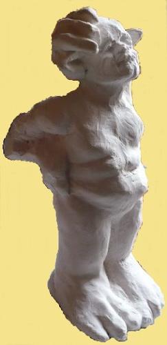 Yvonne van Hülsen, Hand aufs Ohr, Humor, Mythology, Contemporary Art