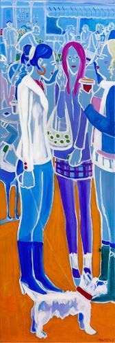 Monika Aladics, Kaffee & Zigaretten (Coffee & Cigarettes), Situations, Abstract Art