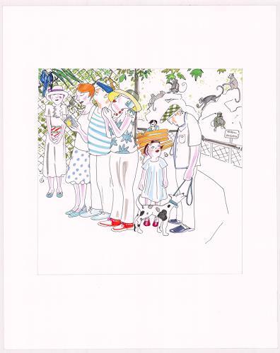 "Monika Aladics, Expedition / Serie: Im Grünen (series: ""Outdoors"")), People: Group, Miscellaneous Animals, Contemporary Art"