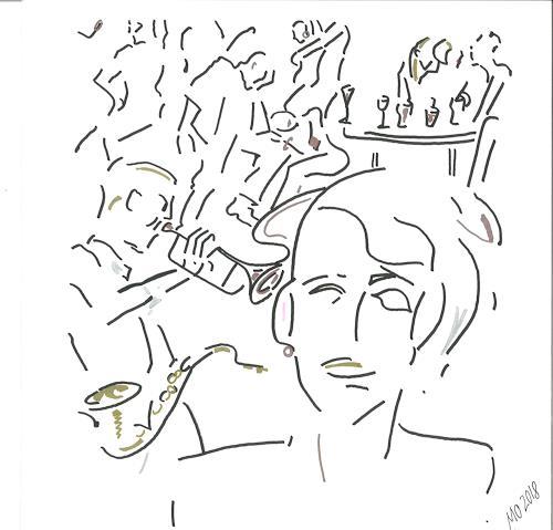 Monika Aladics, Durch die Nacht (Through The Night), Music, People, Contemporary Art