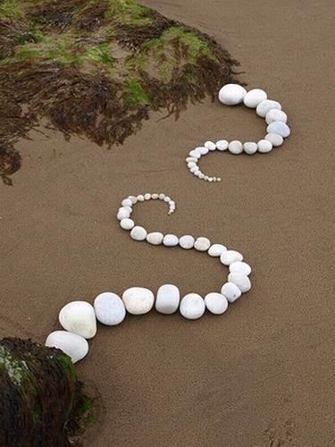 Dietmar Voorwold, AmStrand, Landscapes: Sea/Ocean, Land-Art, Expressionism
