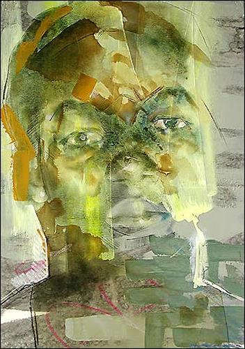Francisco Núñez, N/T, People: Faces, People: Portraits, Abstract Expressionism