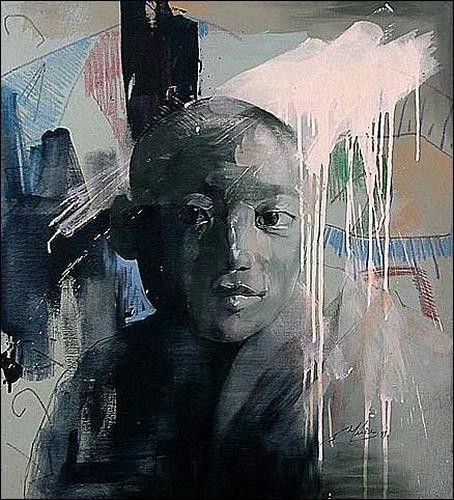 Francisco Núñez, N/T, People: Faces, People: Portraits, Expressionism