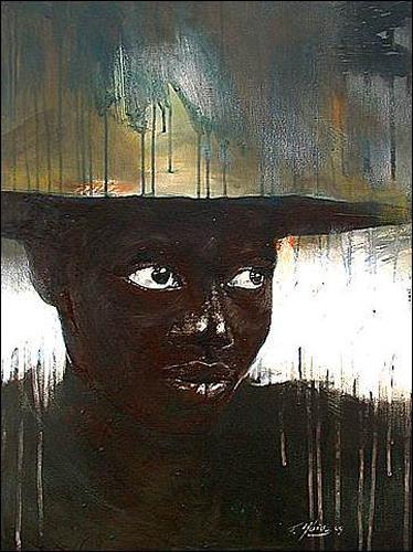 Francisco Núñez, Miras al lugar que busco, People: Women, People: Portraits, Abstract Expressionism