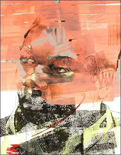 Francisco Núñez, Retrato Con Rodillo, People: Faces, Miscellaneous People