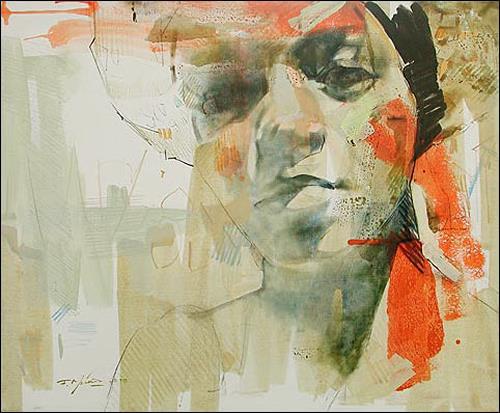 Francisco Núñez, Dailien, People: Faces, People: Women, Abstract Art