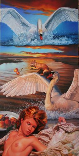 Ralf Vieweg, Zeus in Rage, Fantasy, Symbolism, Abstract Expressionism