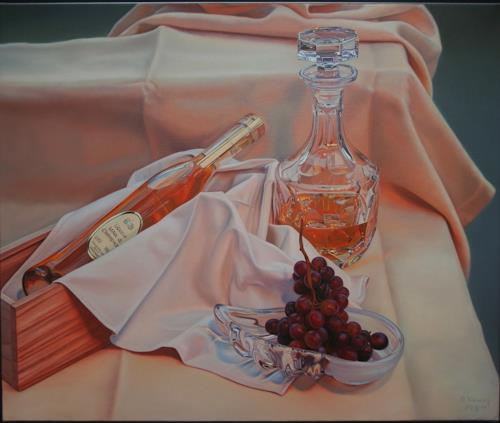 Ralf Vieweg, Marc de Champagne, Still life, Meal, Contemporary Art, Expressionism