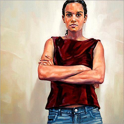 Ralf Scherfose, An der Wand II, People: Portraits, Realism, Expressionism