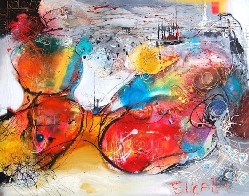 zalans, red sea, Abstract art, Abstract Art, Abstract Expressionism
