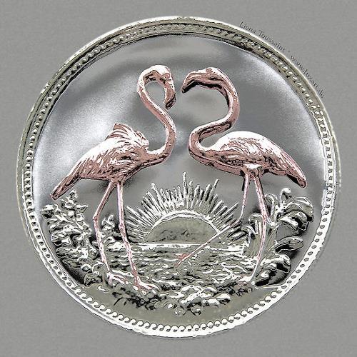 Liona Toussaint, Flamingos, Miscellaneous Animals, Nature: Miscellaneous, Contemporary Art