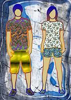 Liona-Toussaint-Leisure-People-Couples-Contemporary-Art-Contemporary-Art