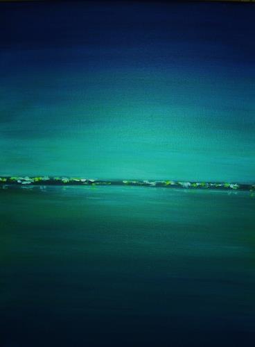 U.v.Sohns, Abendstimmung -7-2010-, Landscapes: Sea/Ocean, Miscellaneous Romantic motifs, Modern Age