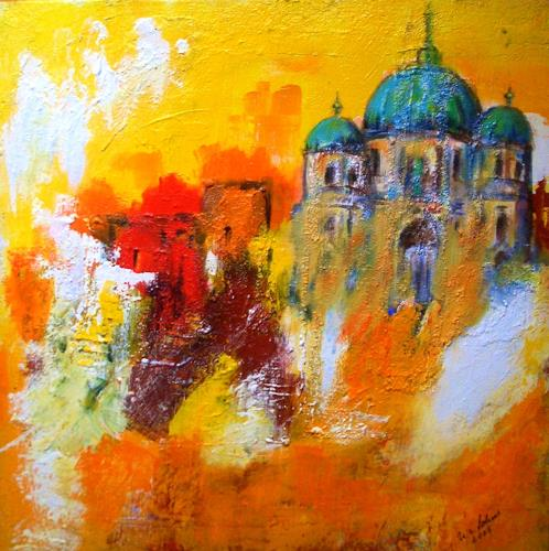 U.v.Sohns, summer in the City, Abstract art, Miscellaneous Landscapes, Abstract Art