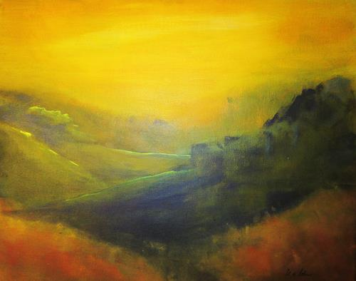 U.v.Sohns, letzte Sonnenstrahlen2014, Landscapes: Hills, Romantic motifs: Sunset, Contemporary Art