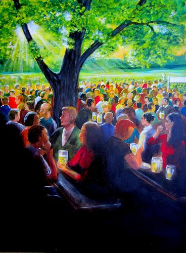 U.v.Sohns, Biergarten, Miscellaneous People, Leisure, Expressionism